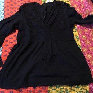 Micheal Kors cotton black blouse